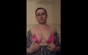 Throwawayhazy teasing her Boobs ON CAM